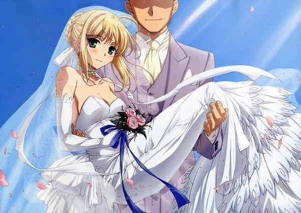 dessin manga mariage